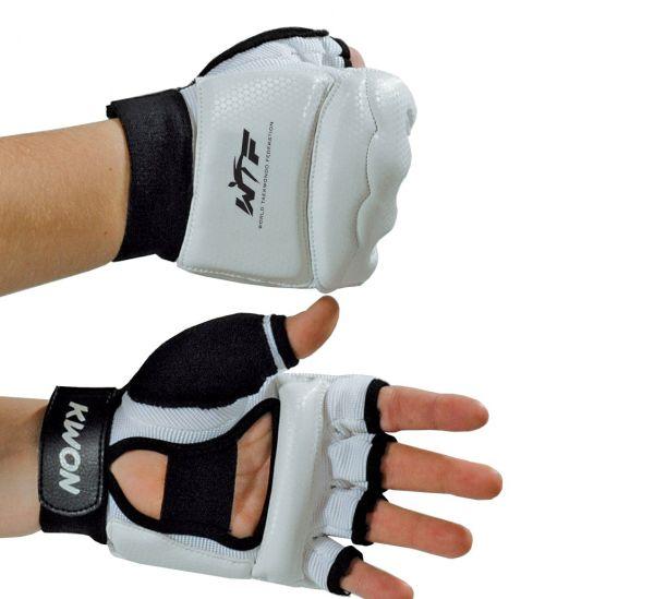 KWON Taekwondo Handschutz WTF weiß/schwarz Faust Hand
