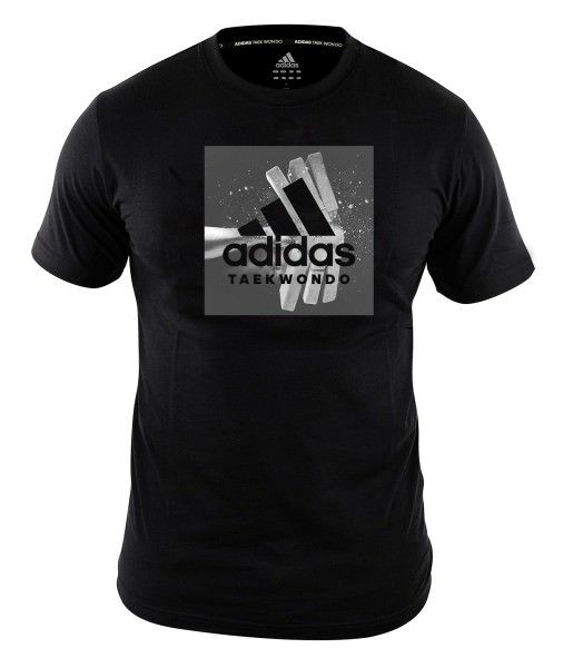 "adidas Taekwondo T-Shirt Bruchtest schwarz ""crash"""